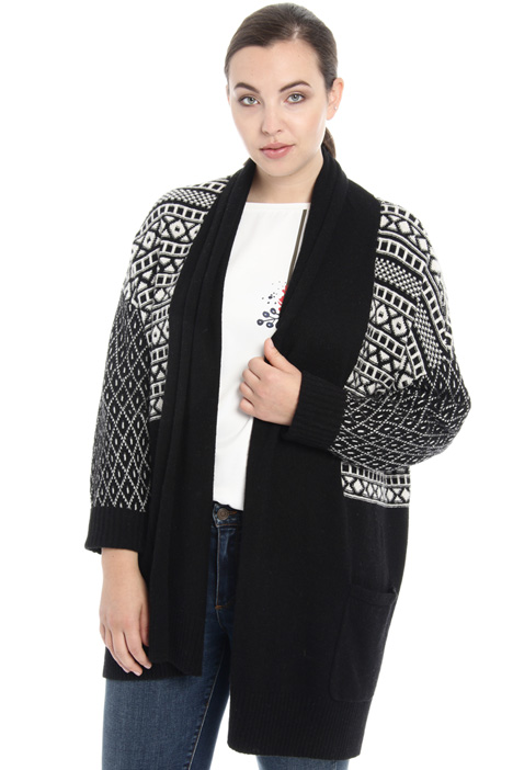 Jacquard wool cardigan Intrend