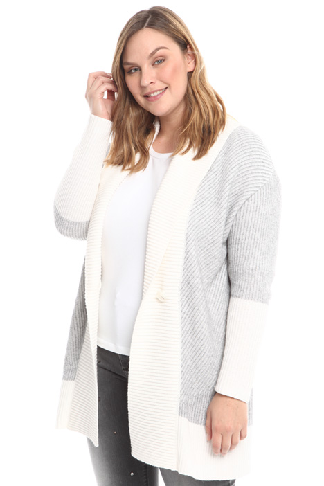 Long rib worked cardigan Intrend