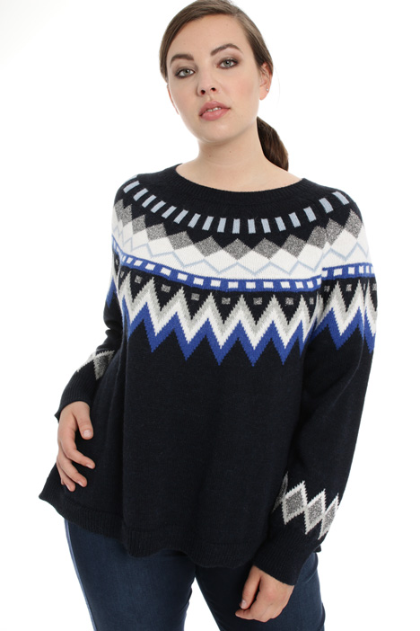 Jacquard sweater in alpaca Intrend