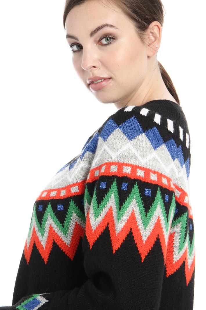 Jacquard sweater in alpaca Intrend