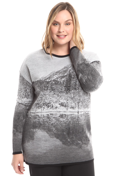 Jacquard wool blend sweater Intrend