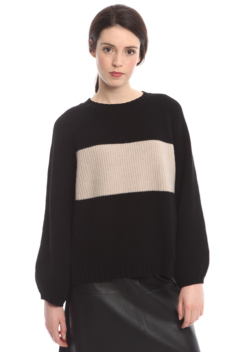 Two-tone wool sweater Intrend