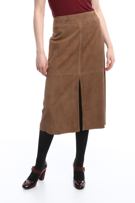 Suede skirt with slit Intrend
