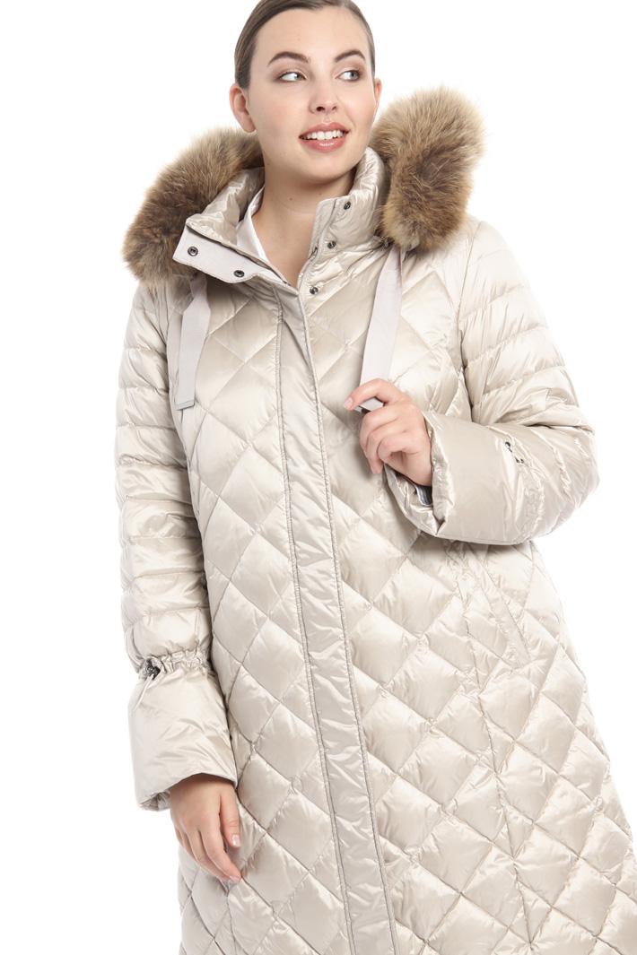 Fur trimmed down coat Intrend