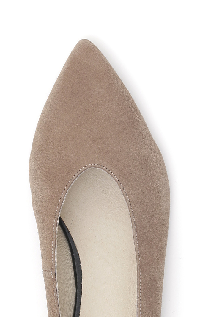 Ballerina shoes in leather Intrend