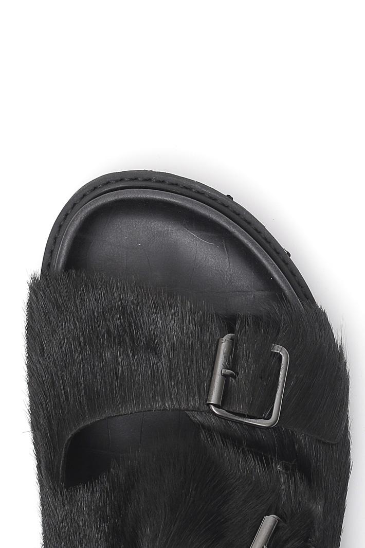 Fur sandals Intrend