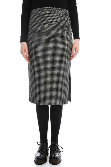 Houndstooth skirt Intrend