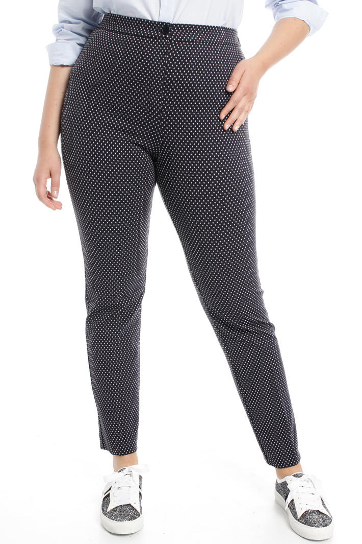 Jersey jacquard trousers Intrend