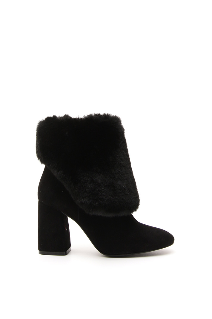 Faux-fur trimmed boots Intrend