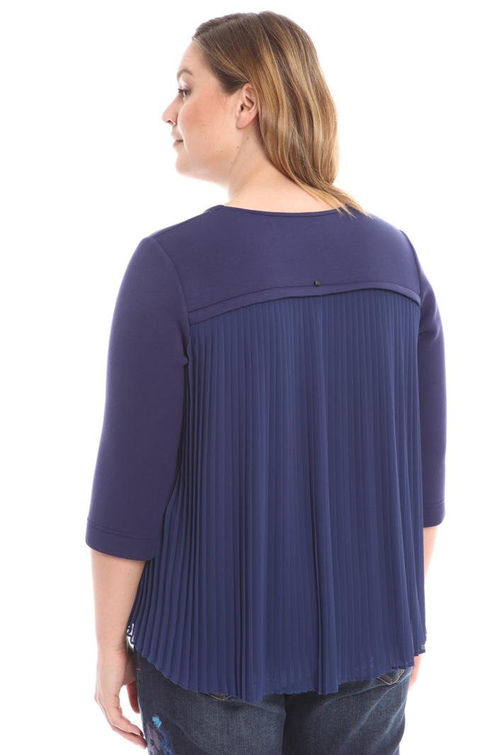 Boxy fit plissé sweatshirt Intrend
