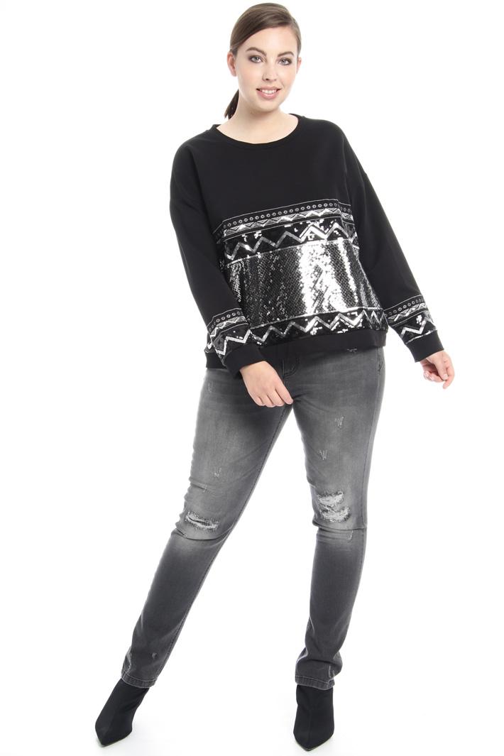 Stretch cotton sweatshirt Intrend