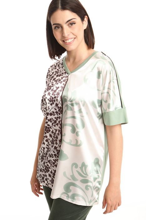 T-shirt a kimono in jersey Intrend