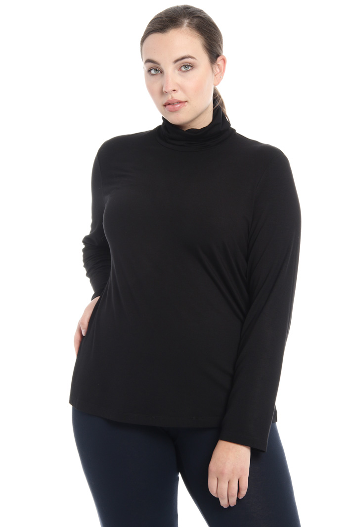 Jersey turtleneck top Intrend