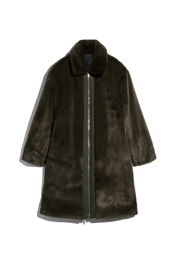 Fur-effect coat Intrend