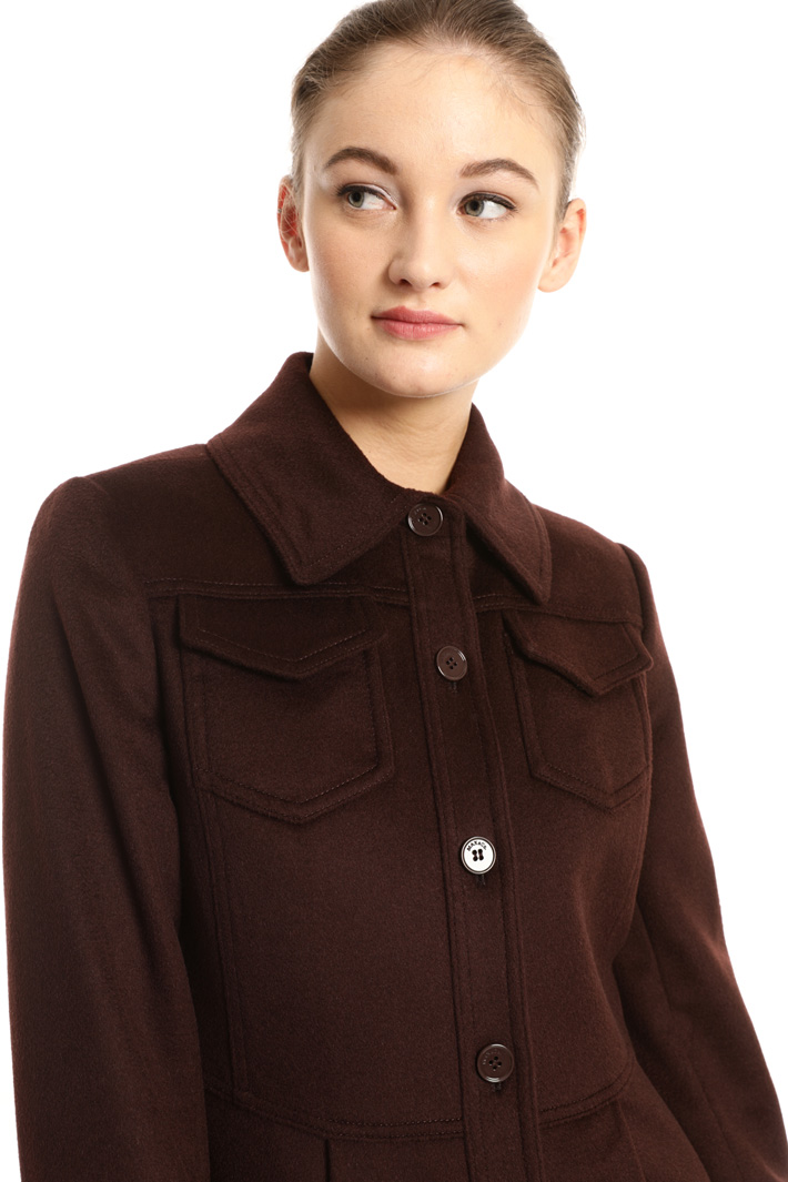 Shirt collar coat Intrend