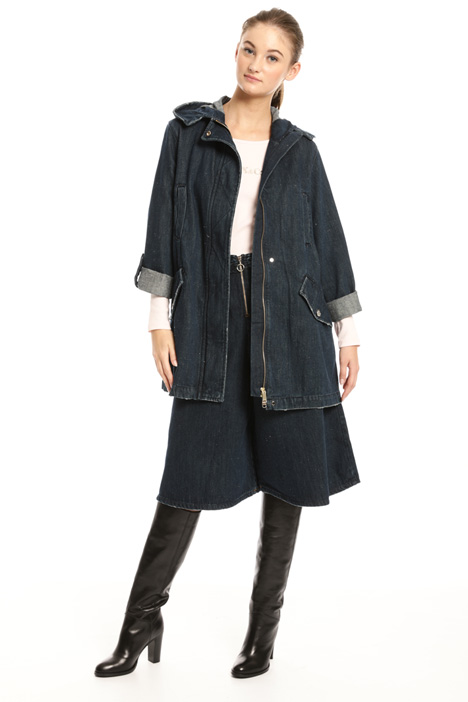 Parka in denim bottonato Intrend