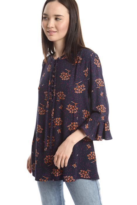 Blusa in sablé stampato Intrend