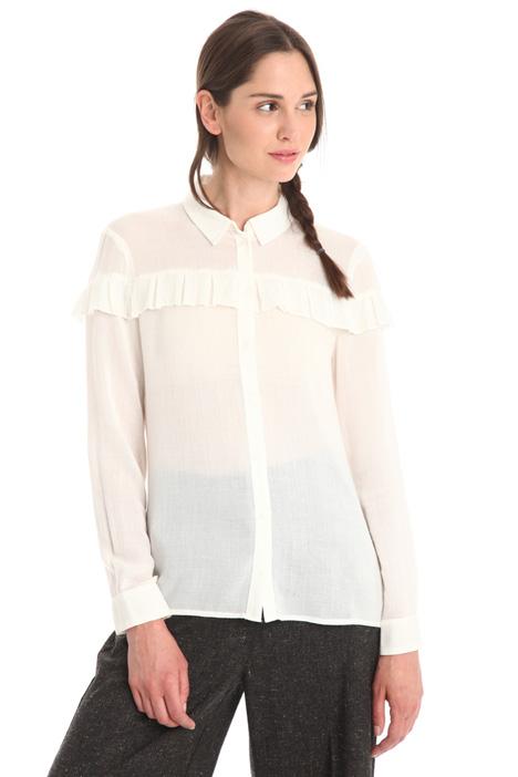 Camicia in garza con rouches Intrend