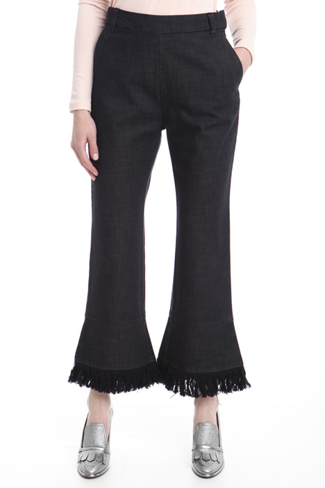 Flared trousers with fringes Intrend