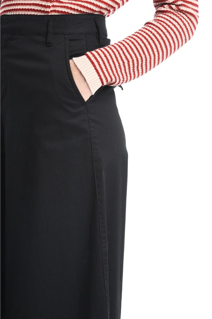 Pantaloni palazzo in cotone Intrend