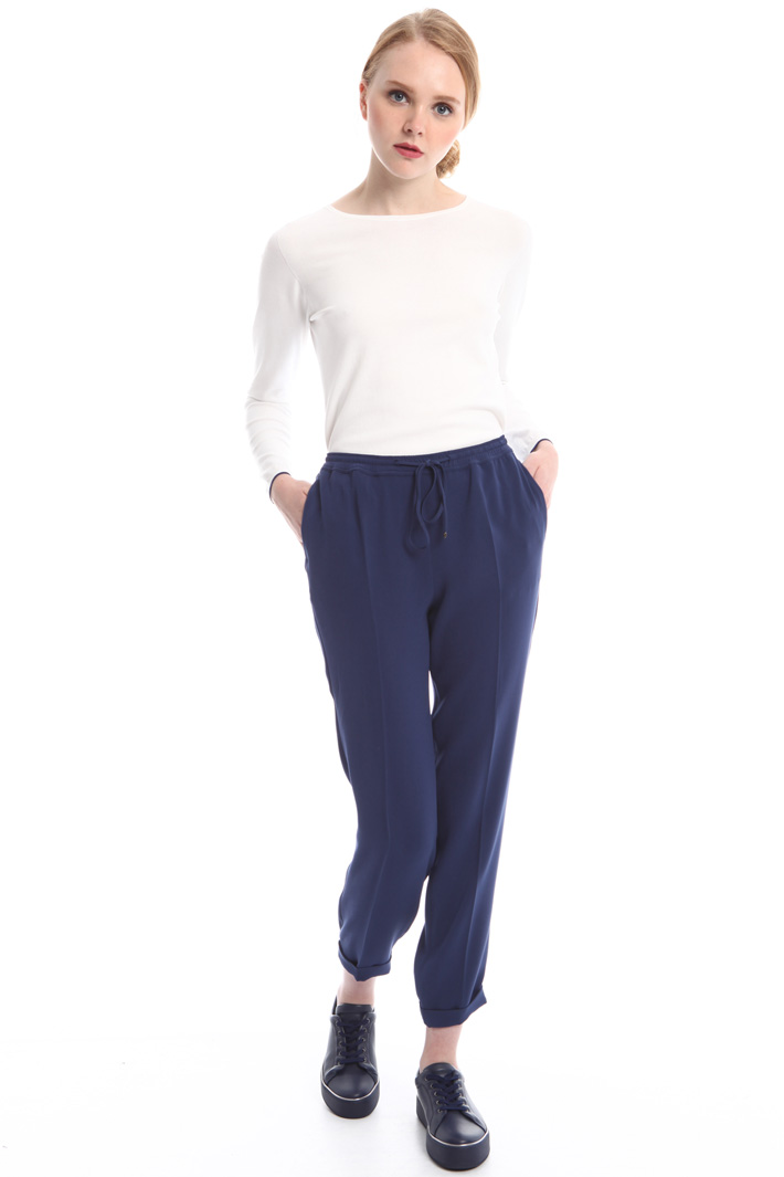 Pantaloni in cady con coulisse Intrend