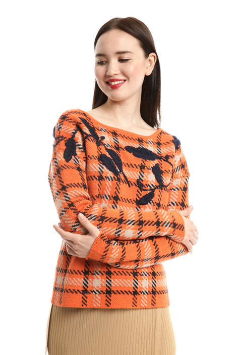 Embroidered jacquard sweater Intrend