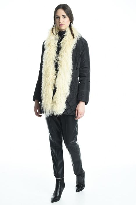 Fur insert down coat Intrend