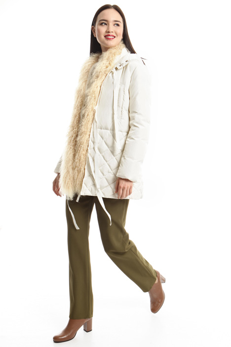 Fur insert down coat Intrend