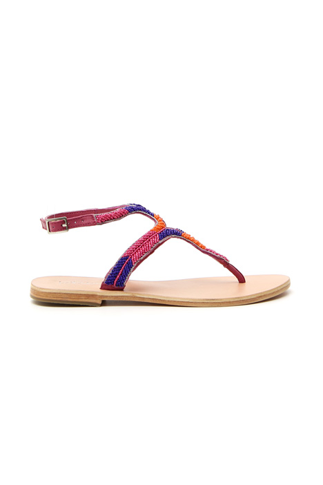 Bead flat sandals Intrend