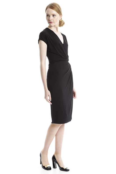 Surplice neck dress Intrend