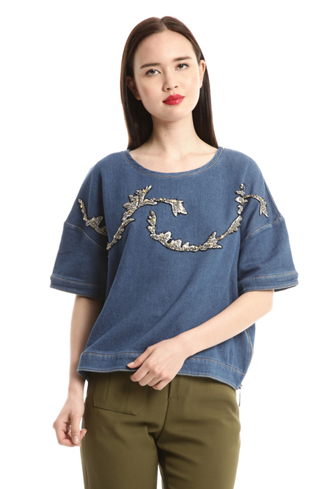Bijou embroidered top Intrend