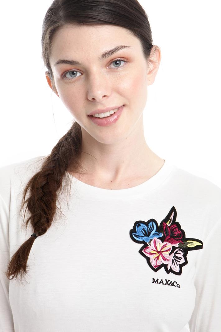T-shirt in jersey interlock Intrend