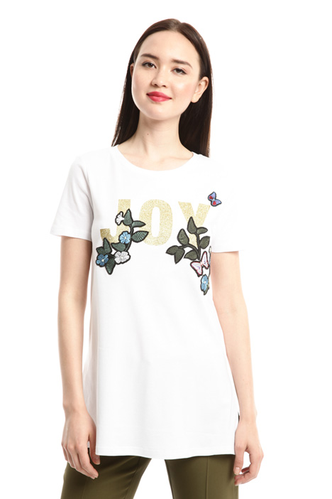 Embroidered T-shirt with print Intrend