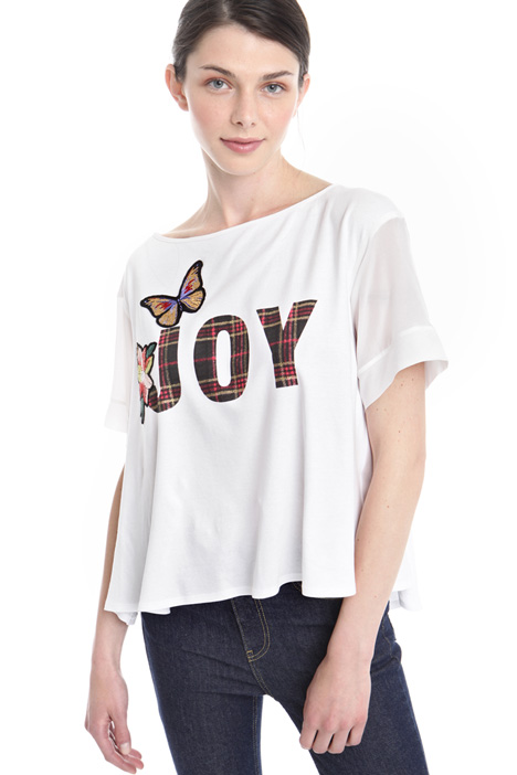 Flared hem T-shirt Intrend