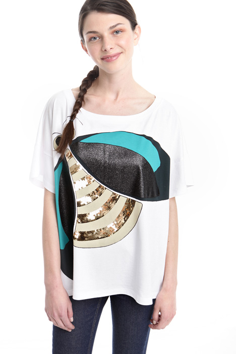 Boxy-fit patterned T-shirt Intrend