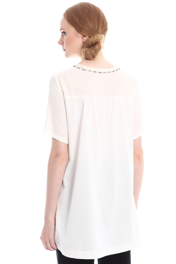 Oversized silk blend T-shirt Intrend