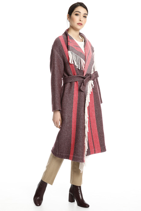 Fringed felt coat Intrend