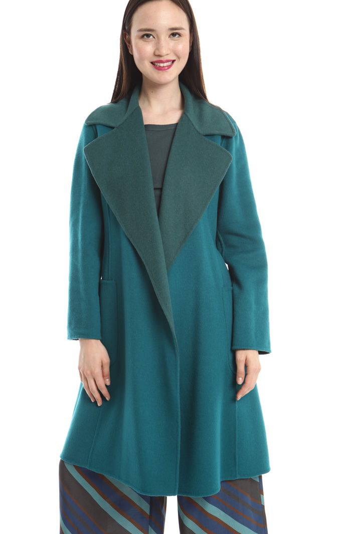 Cappotto reversibile in lana Intrend