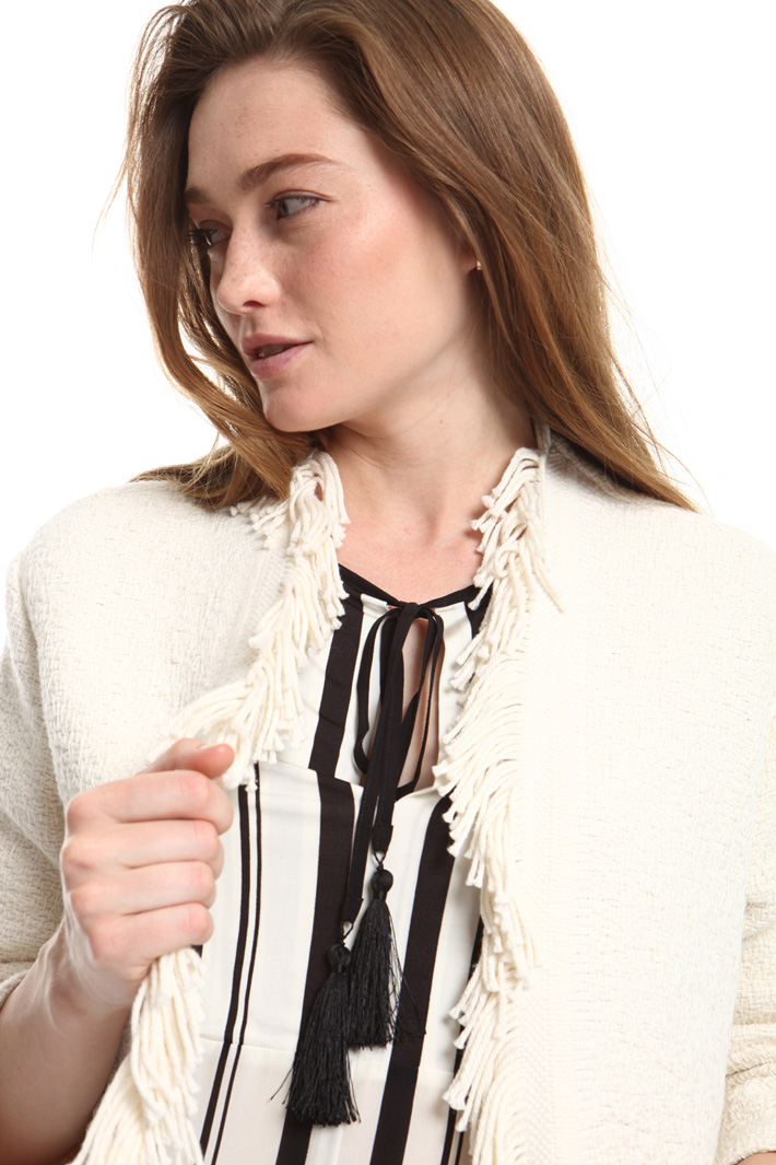 Interwoven cotton jacket Intrend