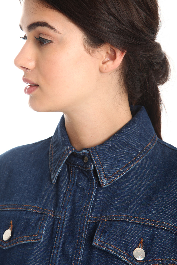 Semi-fitted denim jacket Intrend