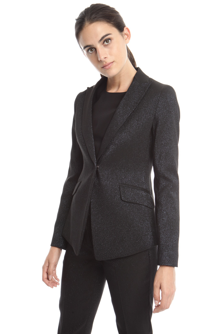 Blazer in sablé lurex Intrend