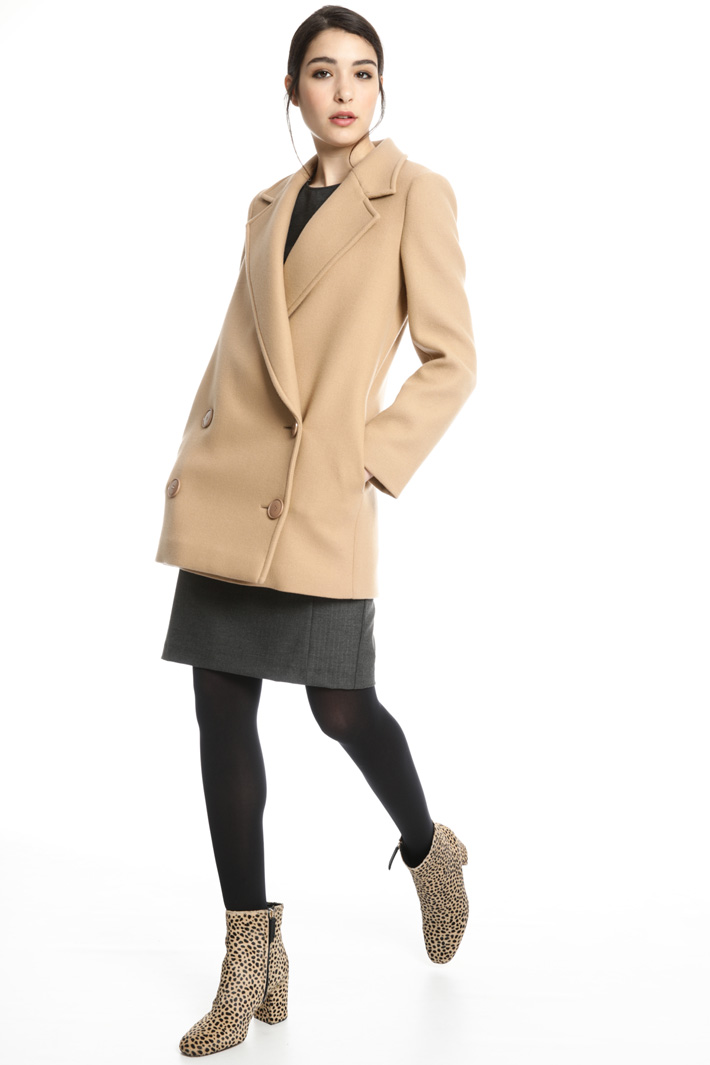 Double-breasted wool pea coat Intrend