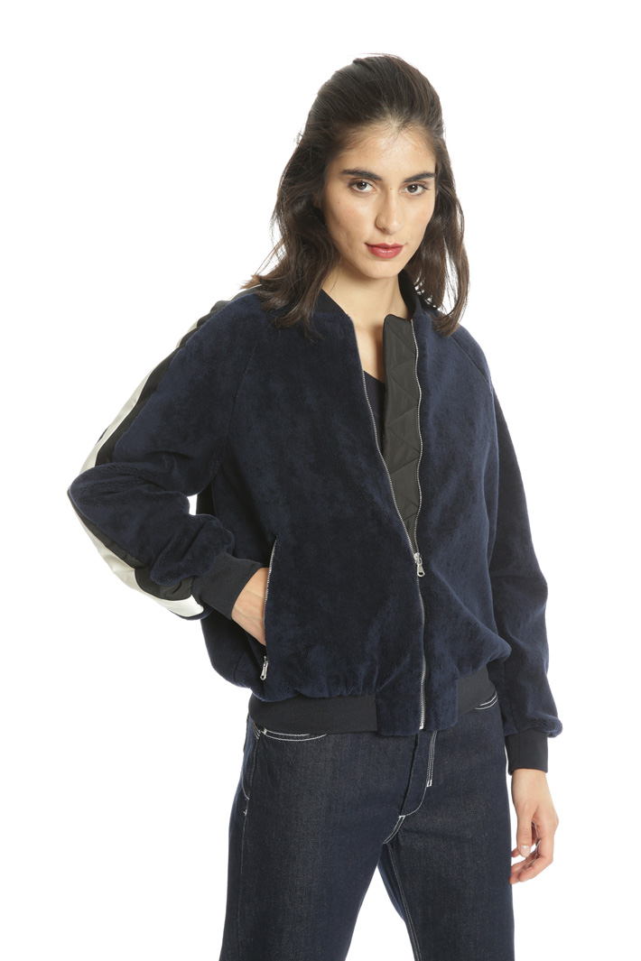 Wool and cotton bomber jacket Intrend