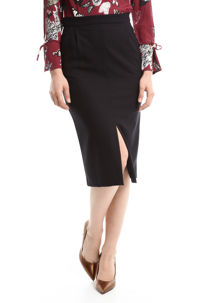 Stretch crepe skirt Intrend