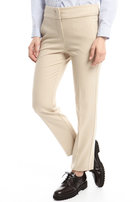 Stretch crepe trousers Intrend