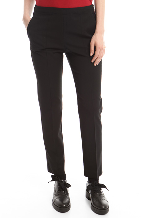 Pantaloni in gabardina stretch Intrend