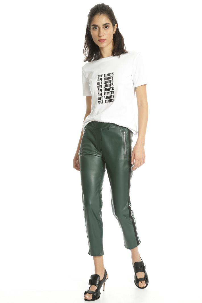 Leather-Effect trousers Intrend