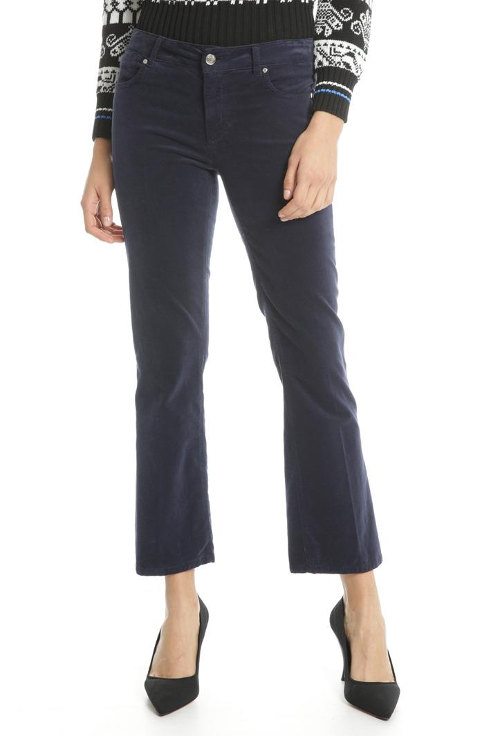 Flared velvet trousers Intrend