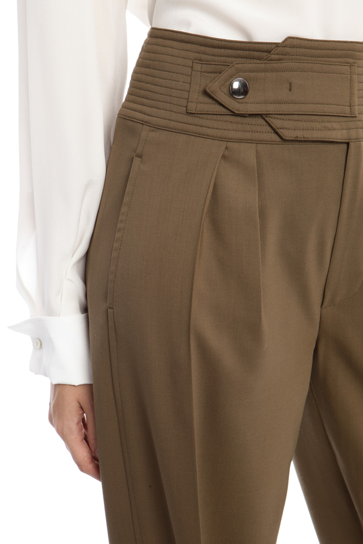 Lightweight wool trousers  Intrend