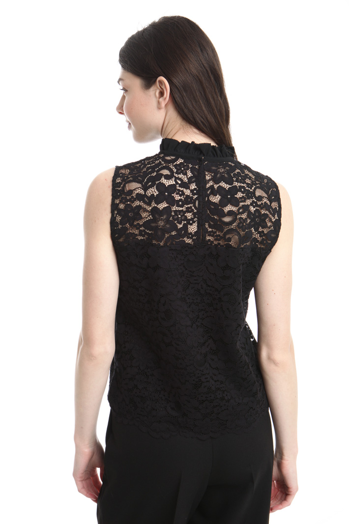 Top smanicato in pizzo Intrend